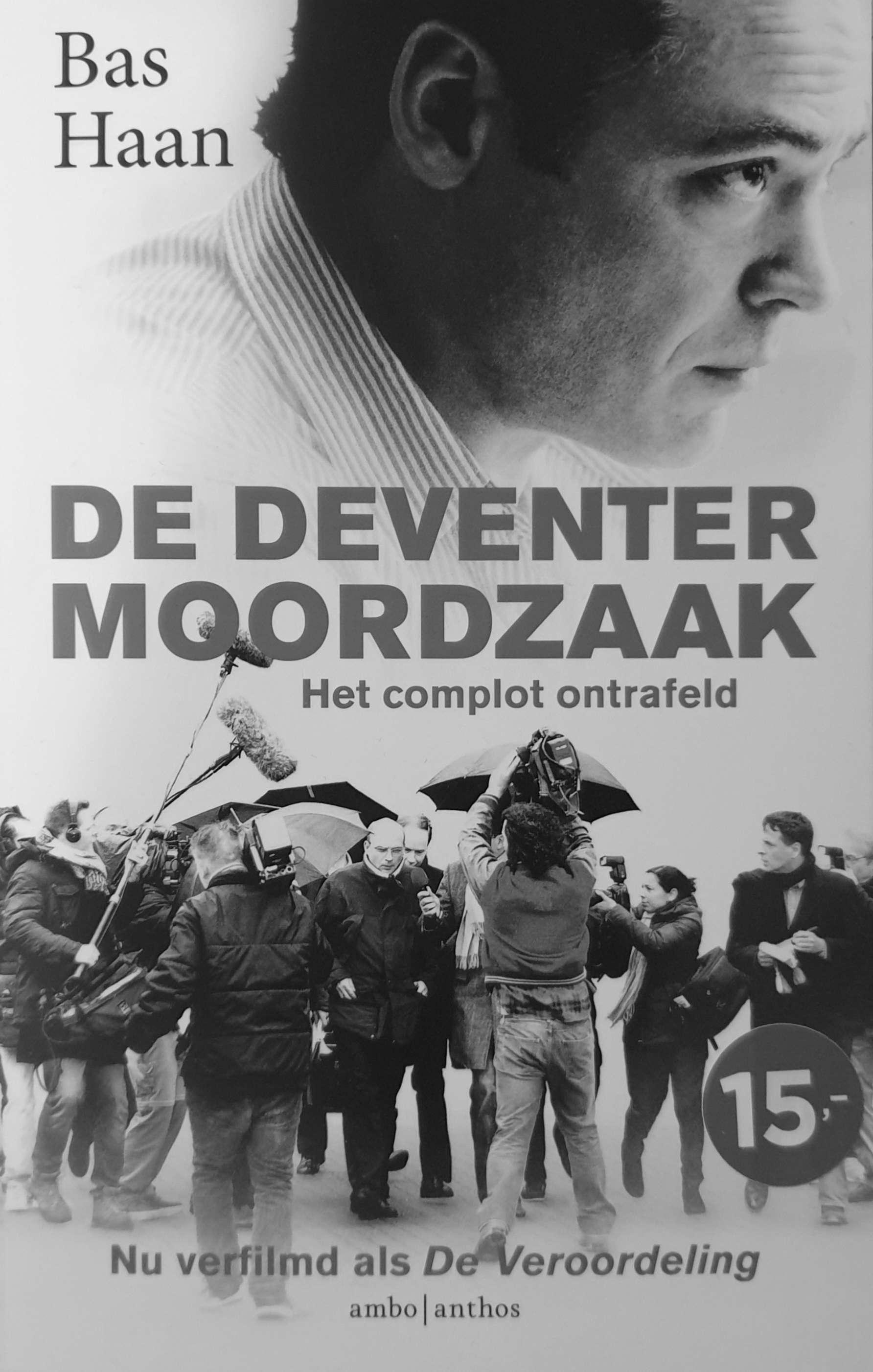 De voorkant van het boek 'De Deventer Moordzaak' van Bas Haan.